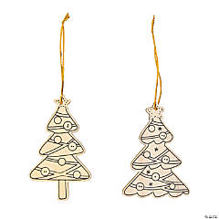 Color Your Own Christmas Tree Ornaments