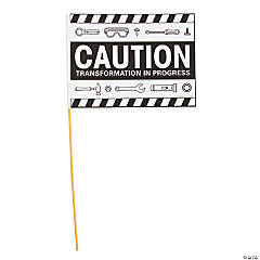 Color Your Own Construction VBS Caution Flags