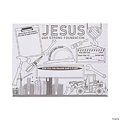 """Color Your Own """"Construction VBS"""" Posters"""