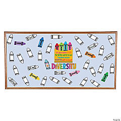 Color Your Own Crayon Diversity Bulletin Board Set