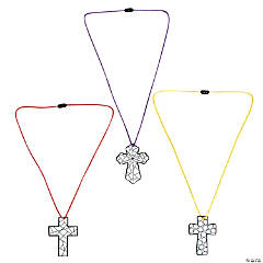 Color Your Own Cross Necklaces