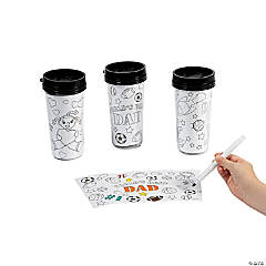 Color Your Own Dad Artist Travel Mugs