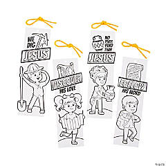 Color Your Own Dig VBS Bookmarks