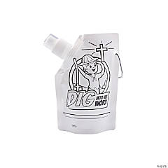 Color Your Own Dig VBS Collapsible Water Bottles