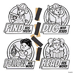 Color Your Own Dig VBS Fuzzy Magnets