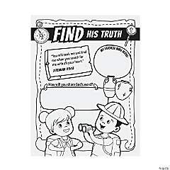 Color Your Own Dig VBS Posters