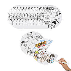 Color Your Own Dig VBS Wheels