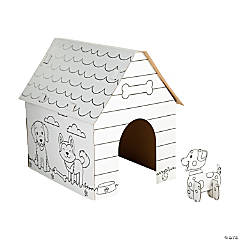 Color Your Own Doghouse Playhouse with Dog - 2 Pc.