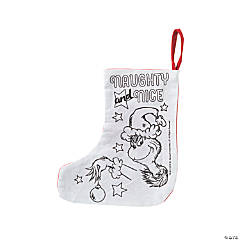 Color Your Own Dr. Seuss™ The Grinch Christmas Stockings