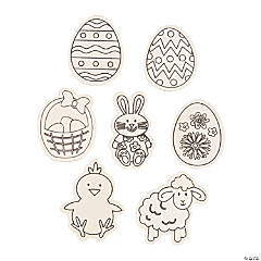 Color Your Own Easter Magnets