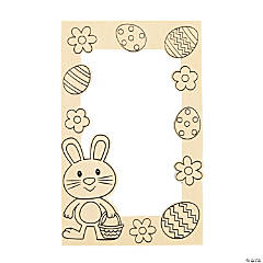 Color Your Own Easter Picture Frame Magnets