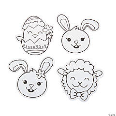 Color Your Own Easter Pins
