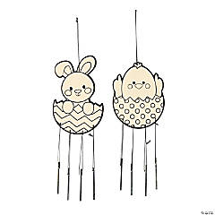 Color Your Own Easter Wind Chimes