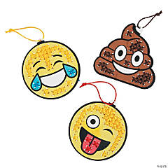 Color Your Own Emoji Cross Stitch Ornament Craft Kit