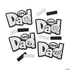 Color Your Own Emoji Father's Day Magnets