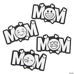 Color Your Own Emoji Mom Magnets