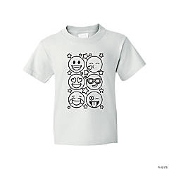 Color Your Own Emoji Youth T-Shirt - Extra Small