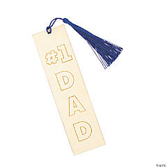 Color Your Own Father's Day Bookmarks