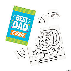 Color Your Own Father's Day Puzzles with Gift Box