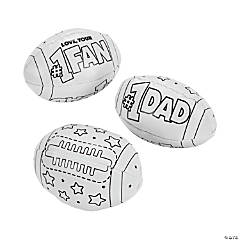 Color Your Own Father's Day Footballs