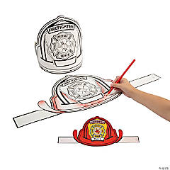 Color Your Own Firefighter Hats