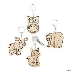 Color Your Own Forest Animals Keychains