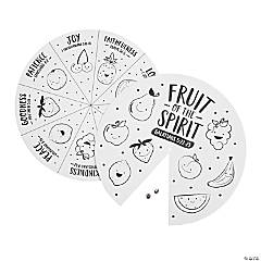 Color Your Own Fruit of the Spirit Wheels