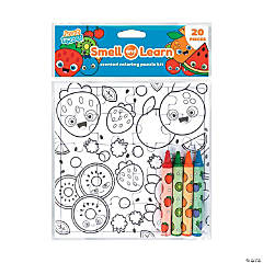 Color Your Own Fruits Puzzle with Scented Crayons