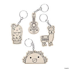 Color Your Own Fun Fiesta Keychains