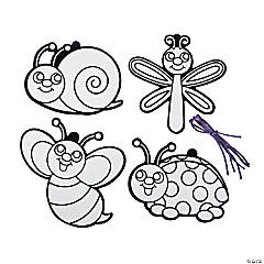 Color Your Own Fuzzy Bug Ornaments