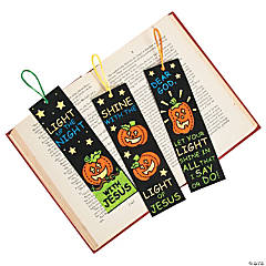 Color Your Own! Fuzzy Christian Pumpkin Bookmarks