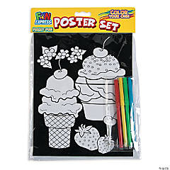 Color Your Own Fuzzy Poster with Markers Sets
