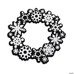 Color Your Own Fuzzy Snowflake Wreaths