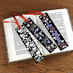 Color-Your-Own Fuzzy Valentine Bookmarks