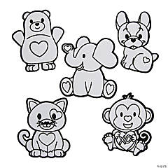 Color Your Own Fuzzy Valentine Magnets