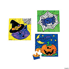 Color Your Own! Halloween Friends Mini Puzzles