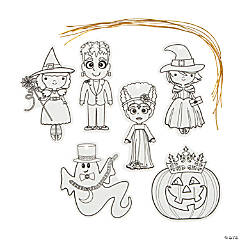 Color Your Own Halloween Ornaments