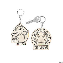 Color Your Own He Lives Keychains