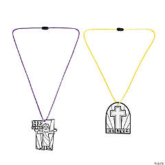 Color Your Own He Lives Necklace Craft Kit
