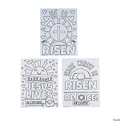 Color Your Own He Lives Poster Set