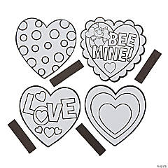 Color Your Own Heart Magnet Craft Kit