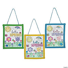 Color Your Own Hello Spring Signs