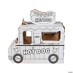 Color Your Own Hot Dog Truck Playhouse
