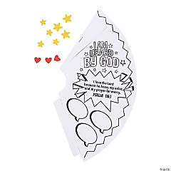 Color Your Own I Am Heard by God Megaphone Craft Kit