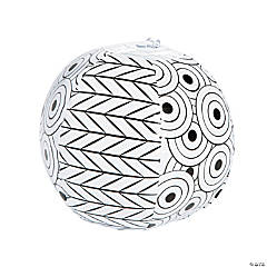 Color Your Own Inflatable Doodle Mini Beach Balls