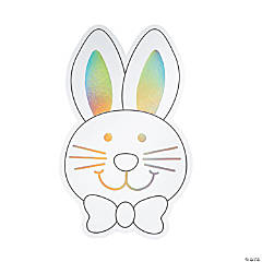 Color Your Own Iridescent Jumbo Bunny Cutouts