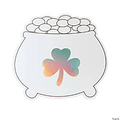 Color Your Own Iridescent Jumbo Pot of Gold Cutouts