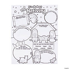 """Color Your Own """"It's All About the Nativity"""" Posters"""