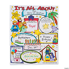 """Color Your Own """"It's All About the Story of Christmas"""" Posters"""