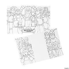 Color Your Own Jesus Appears to His Followers Folded Scenes